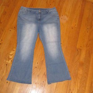 LANE BRYANT FLARE JEANS PLUS SIZE 24 AVE NICE!